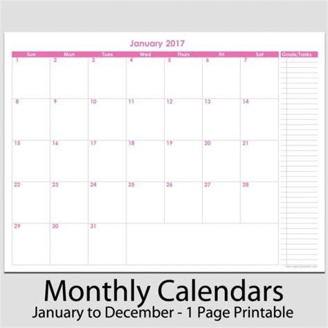 2017 12 month landscape calendar 5 5 x 8 5 legacy monthly planner 2017 8 5 x 11 printable calendar