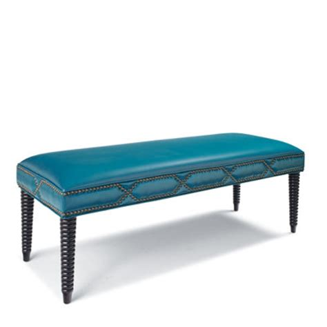 cameron bench cameron leather bench everything turquoise