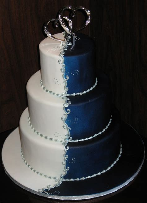 Peacock Park Home Decor A Wedding Addict Dark Blue Wedding Cake Special Snow Angel