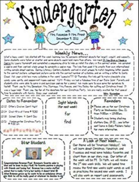 interactive newsletter templates 1000 ideas about kindergarten newsletter on