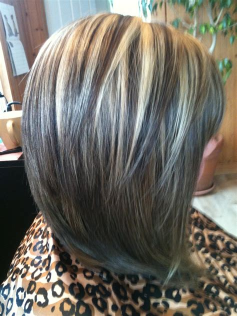 highlights vs lowlights gray hair inverted bob with highlights and lowlights hairstyles