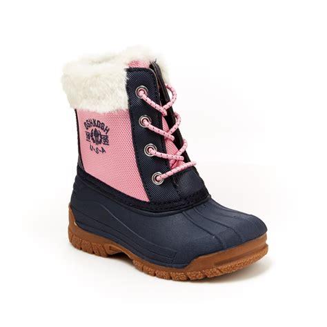 us navy boot c oshkosh toddler orca pink navy winter boot