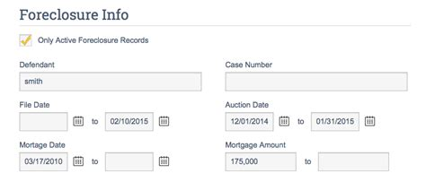 Foreclosure Records Foreclosure Search Crs Data
