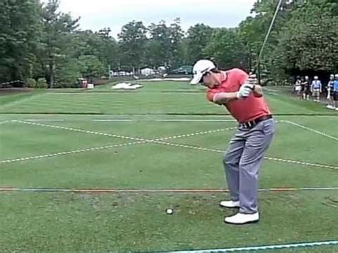 slow motion golf swing from behind scotty langley lefty golfer professional golfer iron