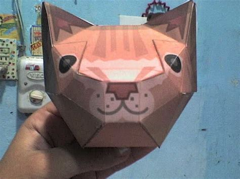 Ceiling Cat Papercraft - ceiling cat 183 an origami model 183 paper folding on cut out