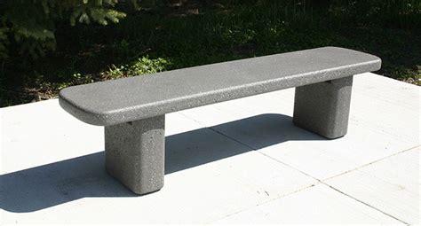 concrete bench legs radius top rounded legs bench b6060 doty concrete