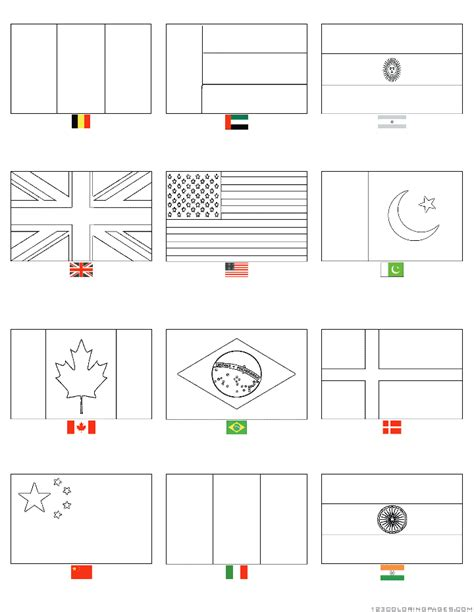 Country Flags Coloring Pages Coloring Pages Flags