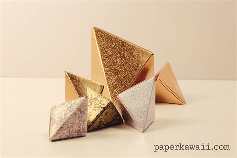 Origami Fox Tutorial - modular origami fox box tutorial paper kawaii
