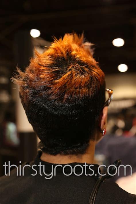 short relaxed hair black women