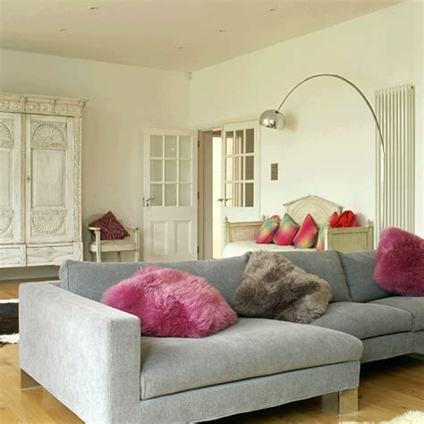 Living Room Ideas With Corner Sofa Living Room With Corner Sofa L And Armoire Ideal Home