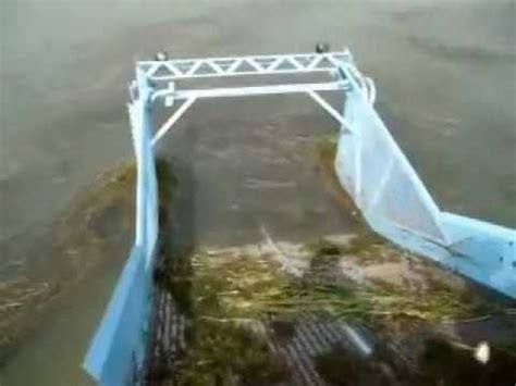 jet boat weed rake weed cutting boat in action doovi