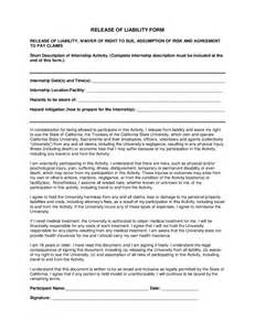 general release of liability form template doc 12751650 general release of liability form