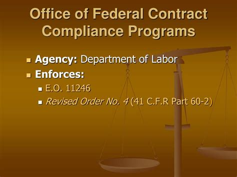 Office Of Compliance by Ppt Employment Regulation In The Workplace Basic