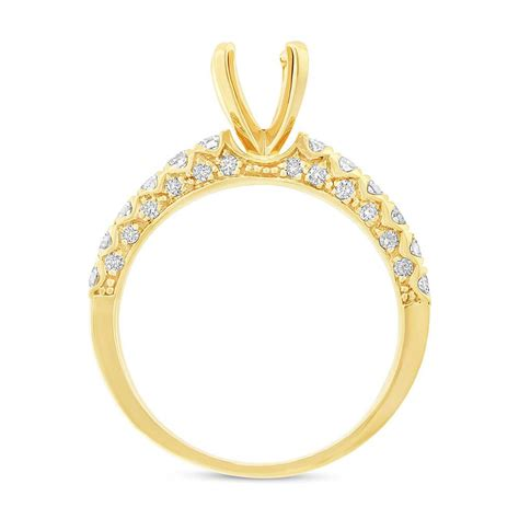 14k yellow gold semi mount bridal wedding set