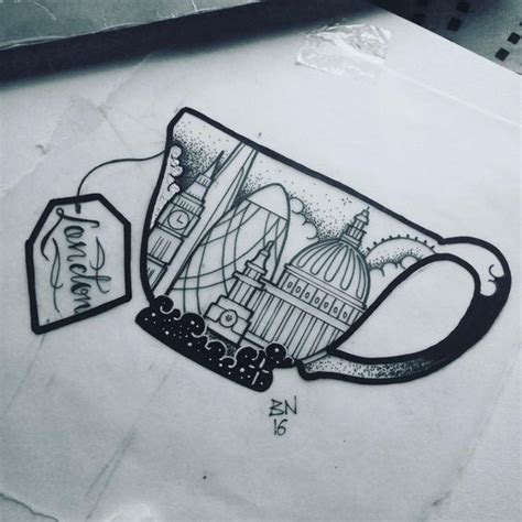 tattoo of london skyline and more london related designs this is part of my