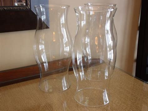 large glass hurricane ls set of 3 extra large glass hurricane candle covers wedding
