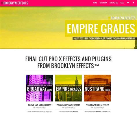 final cut pro x plugins brooklyn effects announces 3 new plugins for final cut