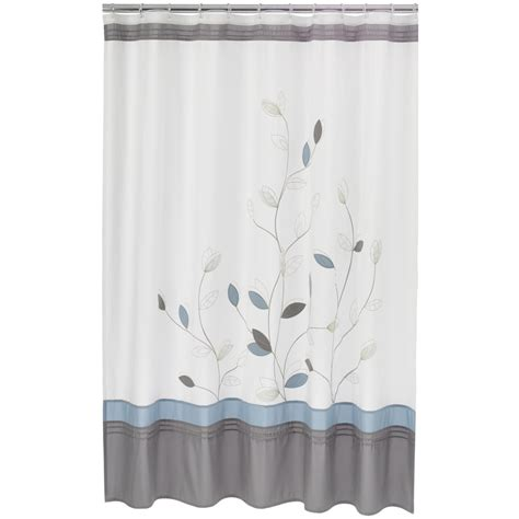 home classics shower curtains home classics alana fabric shower curtain white