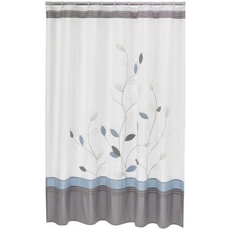 home classics shower curtain home classics alana fabric shower curtain white