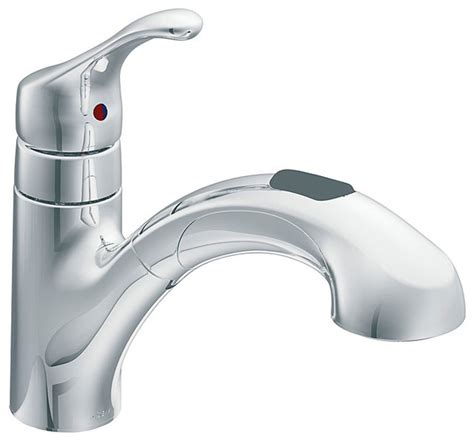 moen pull out kitchen faucet moen one handle chrome low arc pull out kitchen faucet