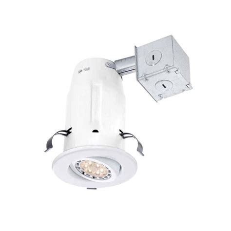 3 led recessed lighting kit commercial electric 3 in white recessed non ic gimbal led
