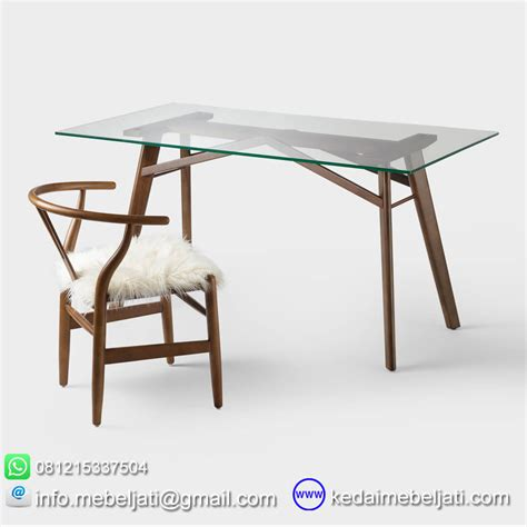 Meja Sofa Kaca beli meja makan kaca model minimalis kayu jati jepara