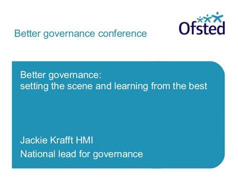 better governance ofsted better governance