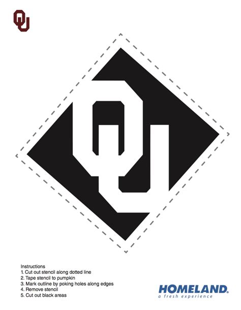 Ou Pumpkin Carving Templates by Oklahoma Sooner Pumpkin Stencils The Official