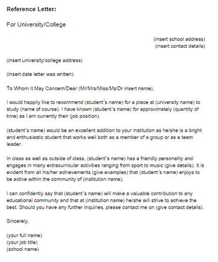 academic recommendation letter reference letter