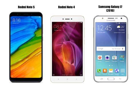 redmi note 5 vs redmi note 4 vs samsung galaxy j7 price in india specifications features