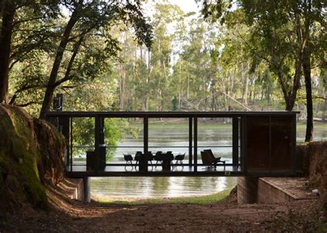 Plans For Cabins by House Suspended Across A Ravine In A Eucalyptus Forest