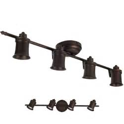 Bronze Kitchen Light Fixtures Rubbed Bronze 4 Light Track Lighting Ceiling Or Wall