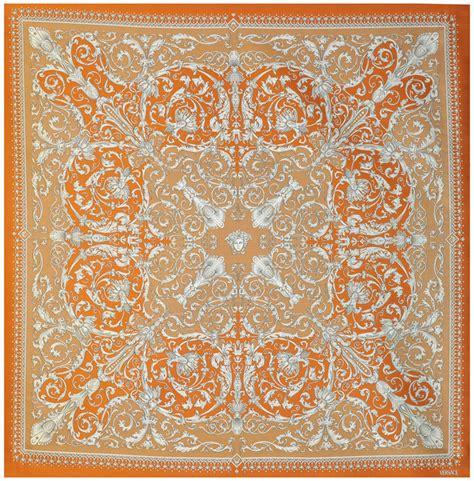 versace upholstery fabric versace medusa baroque orange silk fabric 54 quot x 54 quot ebay