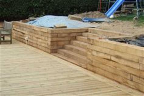 Railway Sleepers Sussex by Wood Retaining Walls Wood Wood Retaining Wall
