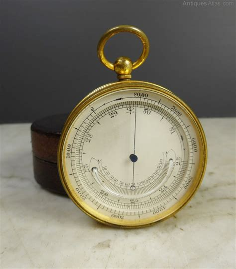 Thermometer Pocket antiques atlas 19th c pocket barometer thermometer