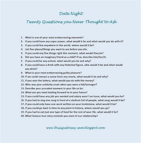 Or Question For A Boy Date 20 Questions Meet Flirt Date Relationship Everafter