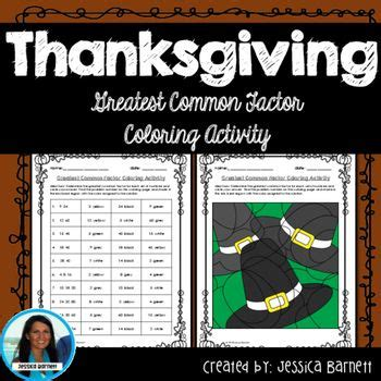 thanksgiving coloring pages middle school thanksgiving math activity greatest common factory