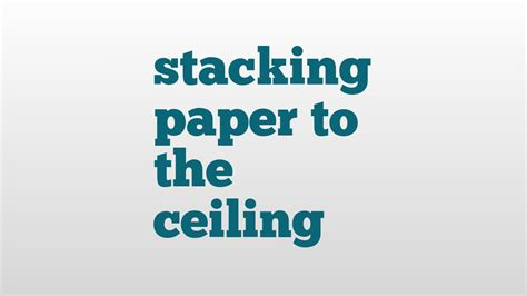 Stack Paper To The Ceiling stack paper money images