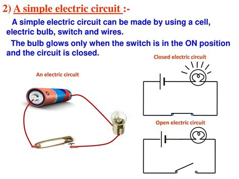 make an electric circuit closed circuit electricity to make a simple electrical
