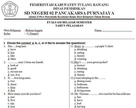 soal soal try out bahasa inggris kelas 6 sd pilihan ganda bahasa smp soal inggris inggris sd soal