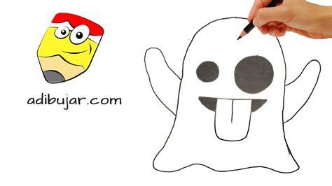 imagenes de fantasmas para dibujar faciles c 243 mo dibujar un emoji fantasma emoticones whastapp how