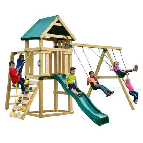 slide n swing swing n slide playsets hawk s nest play set pb 9210 the