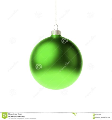 green bauble green 3d bauble stock vector image 61802951