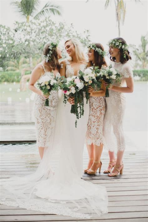 17 Best ideas about White Bridesmaid Dresses on Pinterest