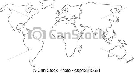 outline carte continents divis 233 simple simplifi 233