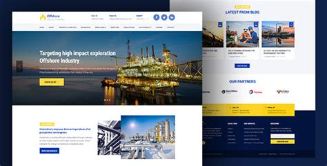 Industrial Website Template Responsive Html5 Offshore By Surjithctly Industrial Responsive Website Templates Free
