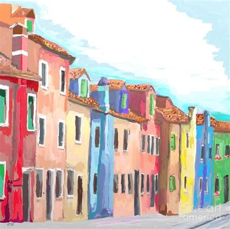 Colorfu Houses Painting | colorful houses painting by iris piraino