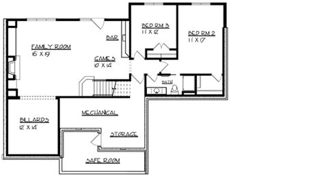 safe house design ranch home plan with safe room 73296hs architectural