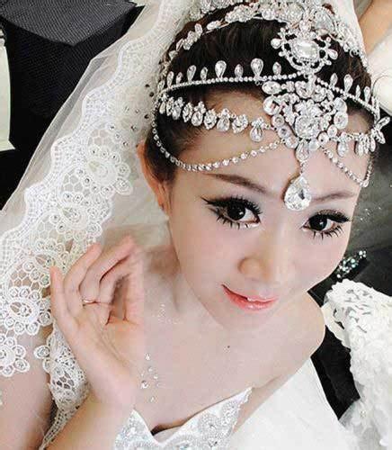 crystal prom bridal forehead jewelry wedding crown dangle bridesmaid wedding rhinestone hair tiara dangle tikka vintage