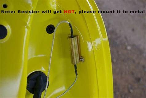 should load resistors get install led resistors solving led turn signal problem diy car led